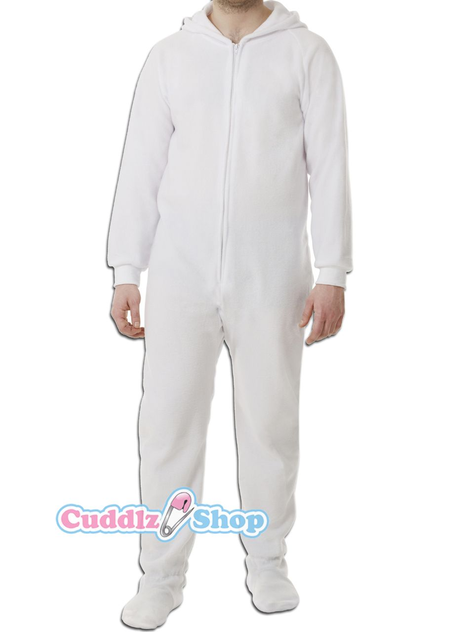 6e67f1da2af White onesie for adults with feet adult baby footed sleeper abdl onesies  with feet - Cuddlz.com