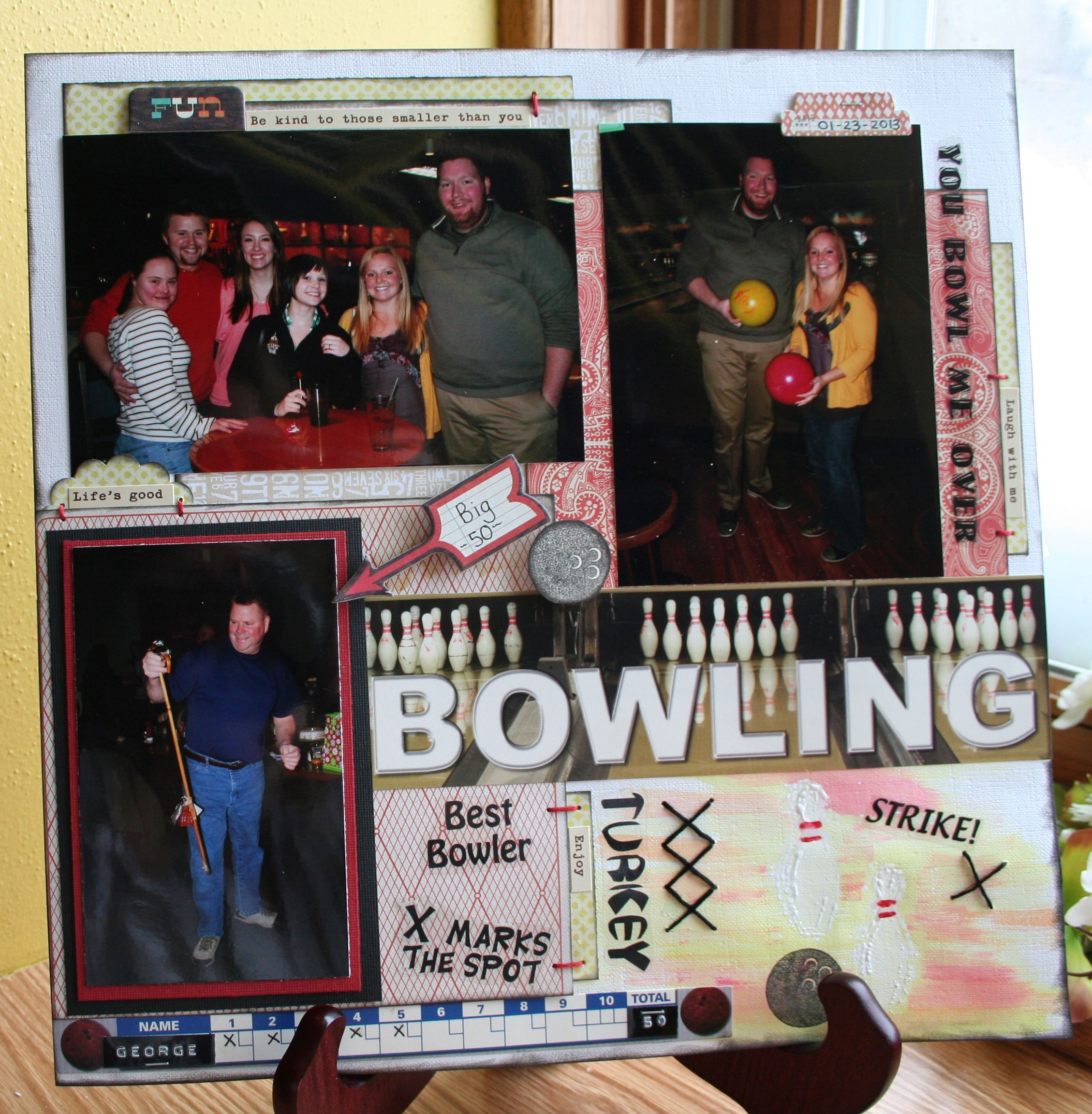 Family scrapbook ideas on pinterest - Bowling Scrapbook Com