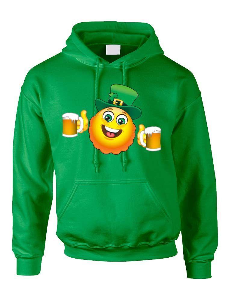 6436ffb3 Irish smiling drinking Emoji Emoticon ST patricks women hooded sweatshirt  saint patricks day irish drunk shirt st patricks beer drunk woman irish  pride pint ...