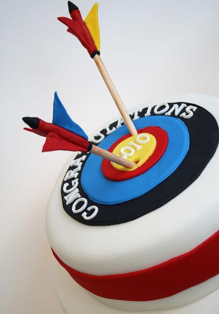 Archery Cake With Images Archery Birthday Dessert Decoration