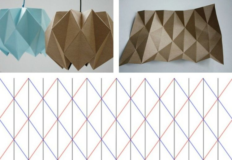 lampe origami faire soi m me 10 designs cr atifs suspension origami papier marron et. Black Bedroom Furniture Sets. Home Design Ideas