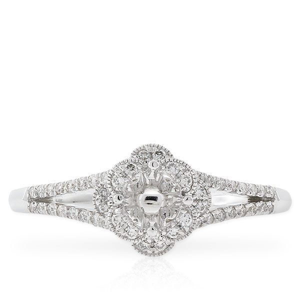 This Old European-style engagement ring of years gone by: