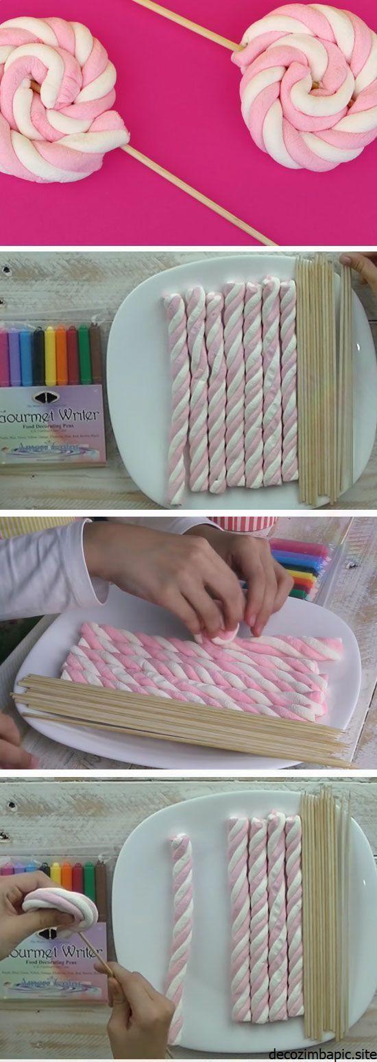 Marshmallow Swirls | DIY Baby Shower Ideen für ei… Marshmallow Swirls | DIY Baby Shower Ideen für ein Mädchen | Easy Birt …