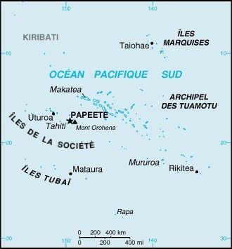 Mapa Polinezji Francuskiej Polinezja Francuska Tahiti