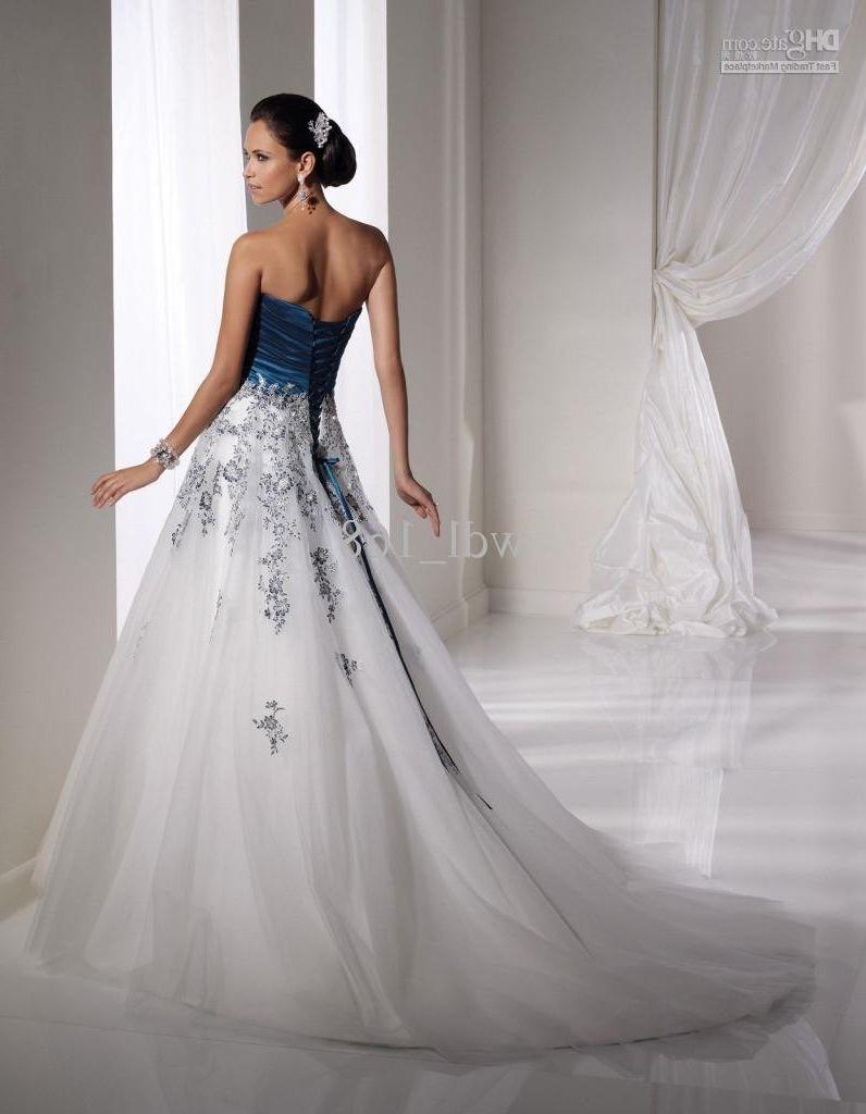 Navy and white wedding dress beautiful prom