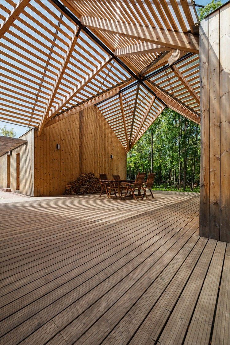 Wunderbar Terrassenüberdachung Aus Holz Schafft Ein Einzigartiges Zusammenspiel Von  Licht Und Schatten #wintergarten #überdachung #