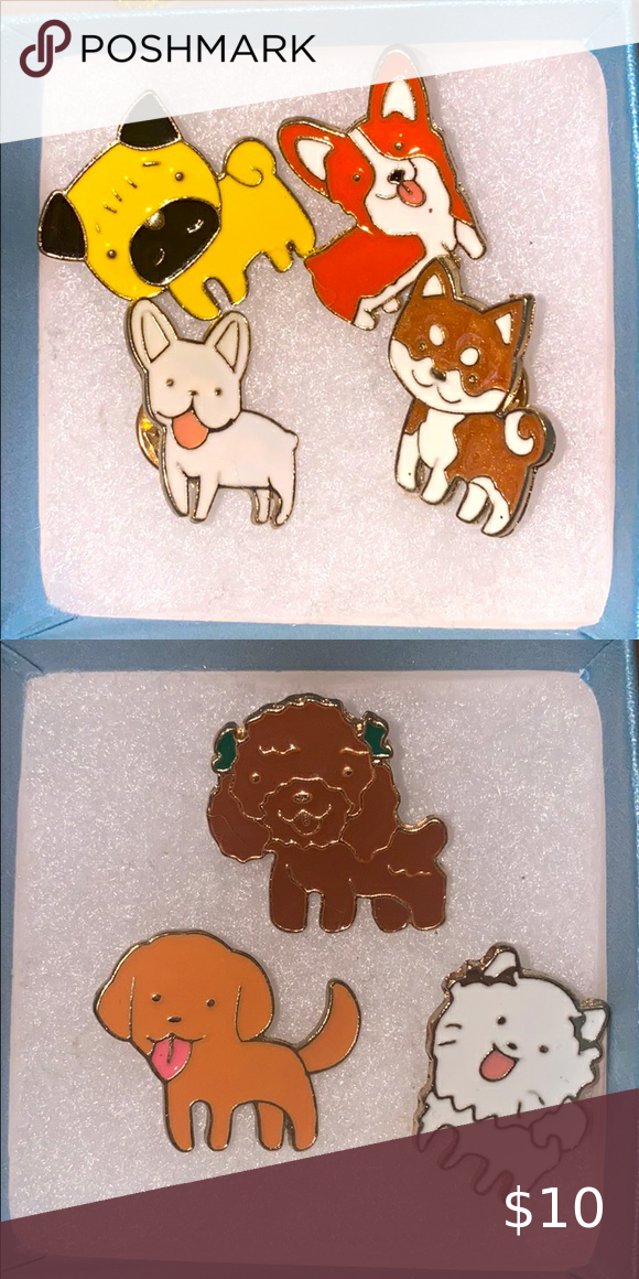 Pet Pins 10$ for 2 Cute doggie pet pins Jewelry Brooches
