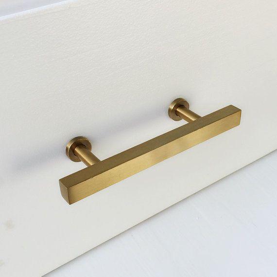 3 brass drawer pul european cabinet knobs t bar brass drawer