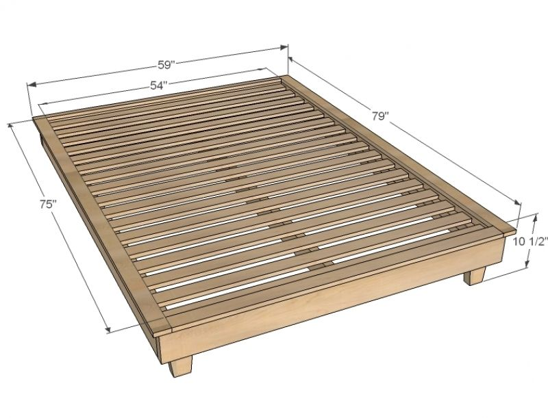 Best Ana White Build A Hailey Platform Bed Free And Easy Diy 640 x 480