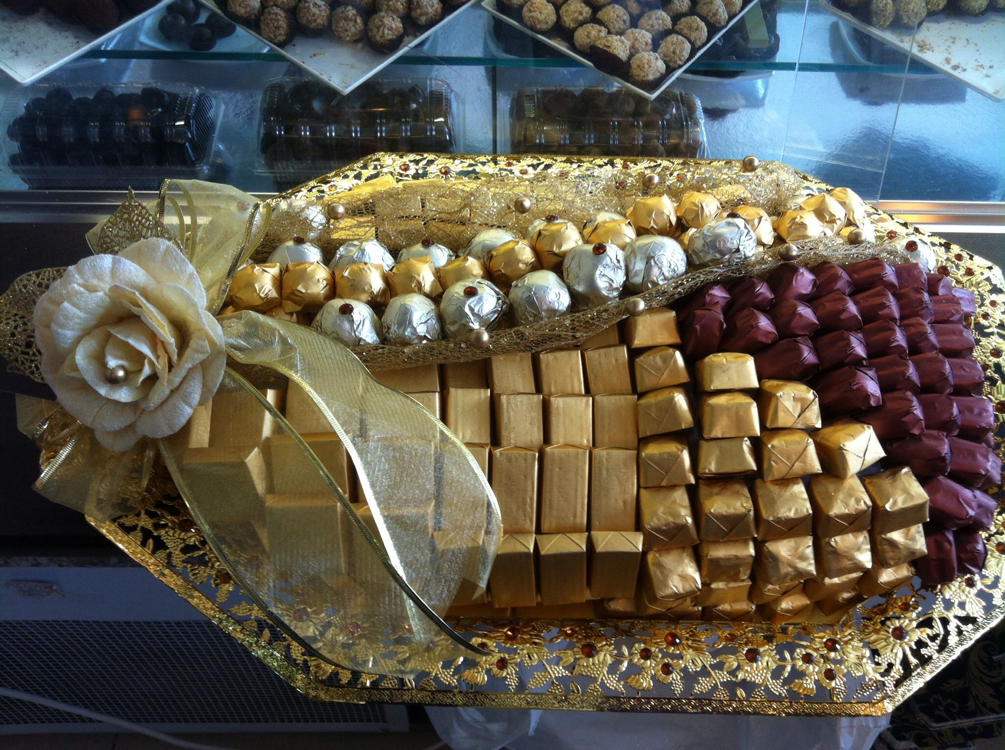 Gold Tray Chocolate Tray Pinterest Handmade Crafts