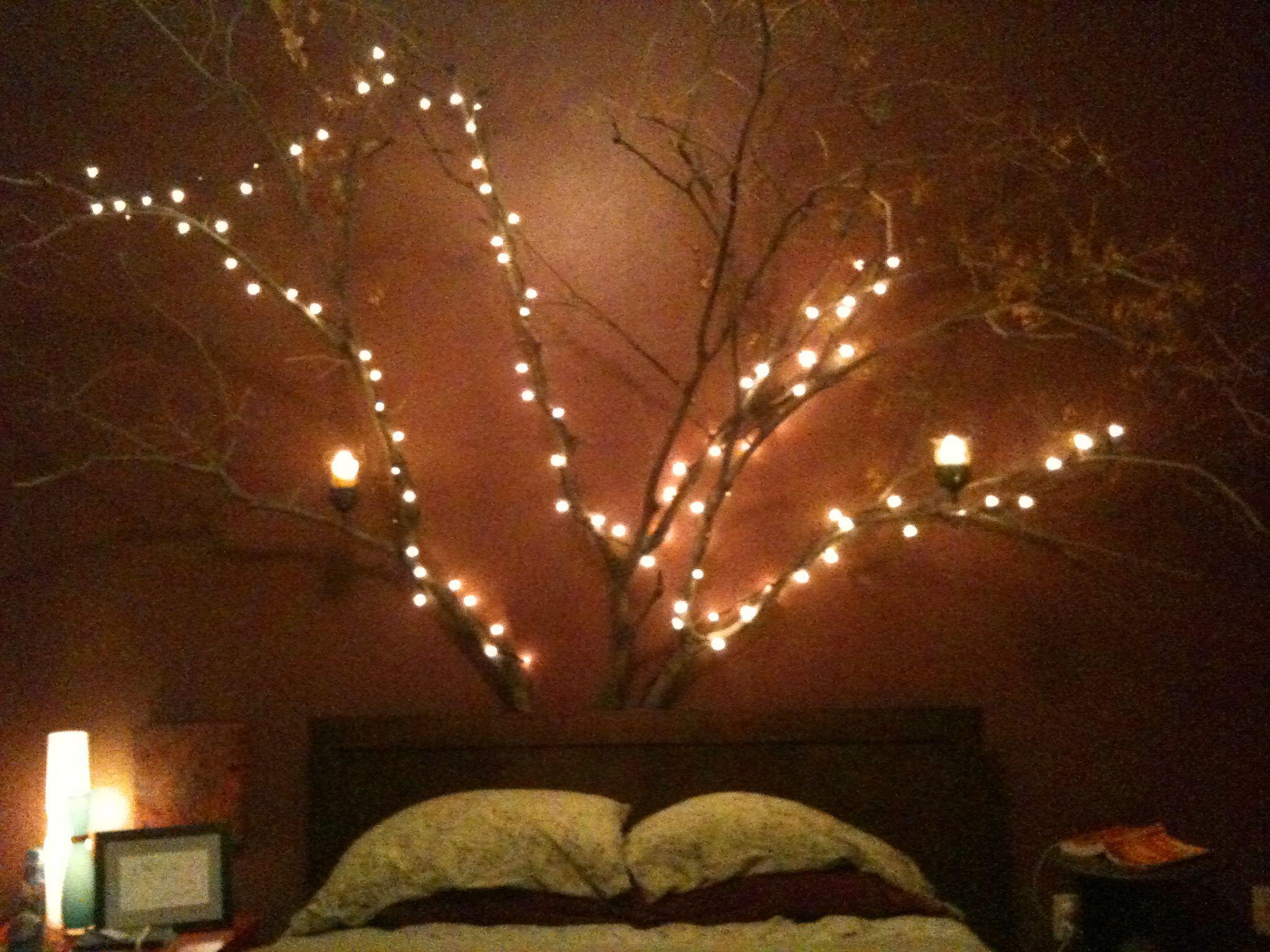 Diy Bedroom Tree I Made Bedroom Decor Lights Bedroom Diy