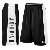 Jordan AJ Highlight Shorts - Boys' Grade School - Black / White