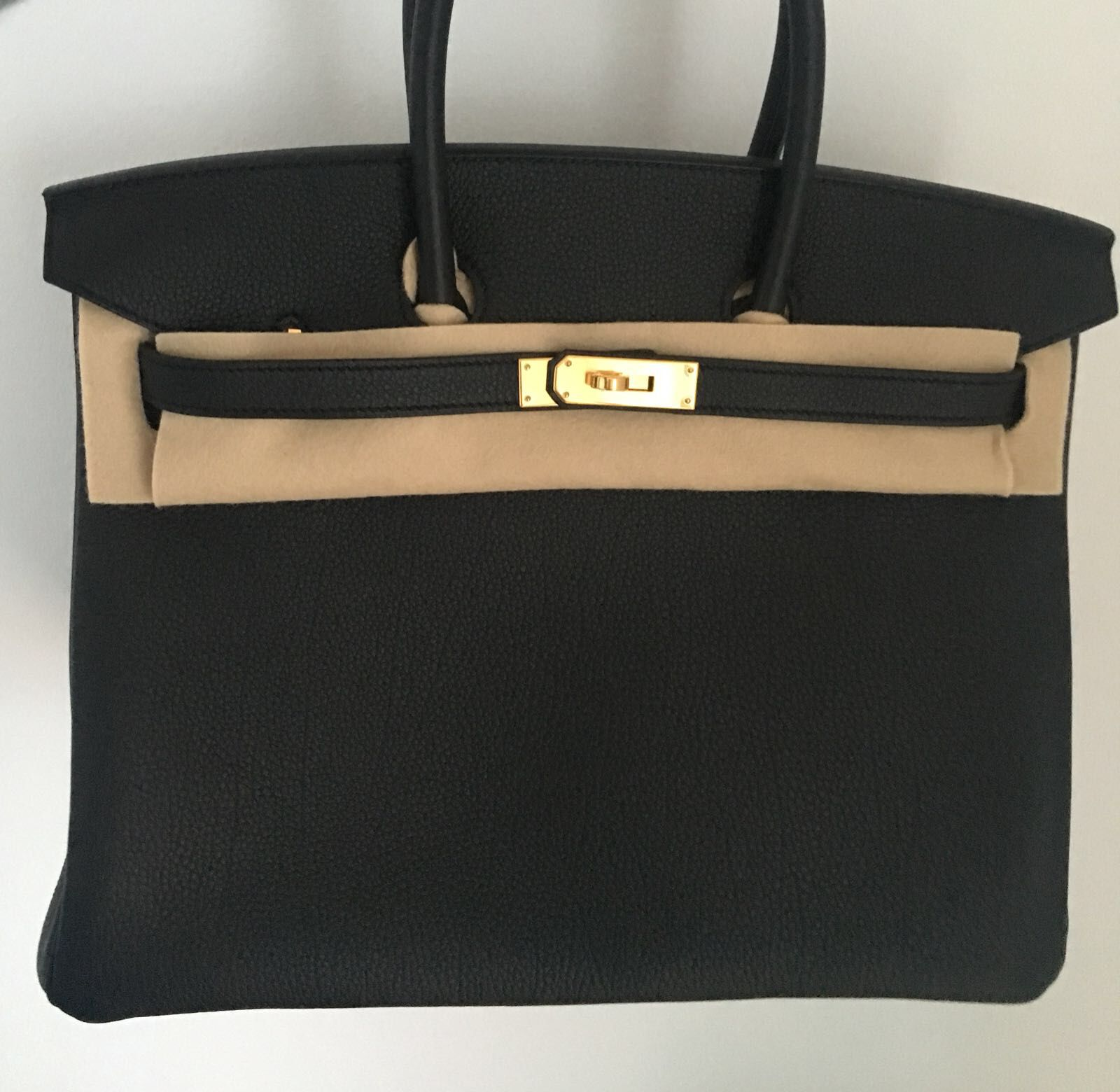 b311242280 Hermès Birkin 35 Noir (Black) Togo Gold Hardware GHW C Stamp 2018  birkin35