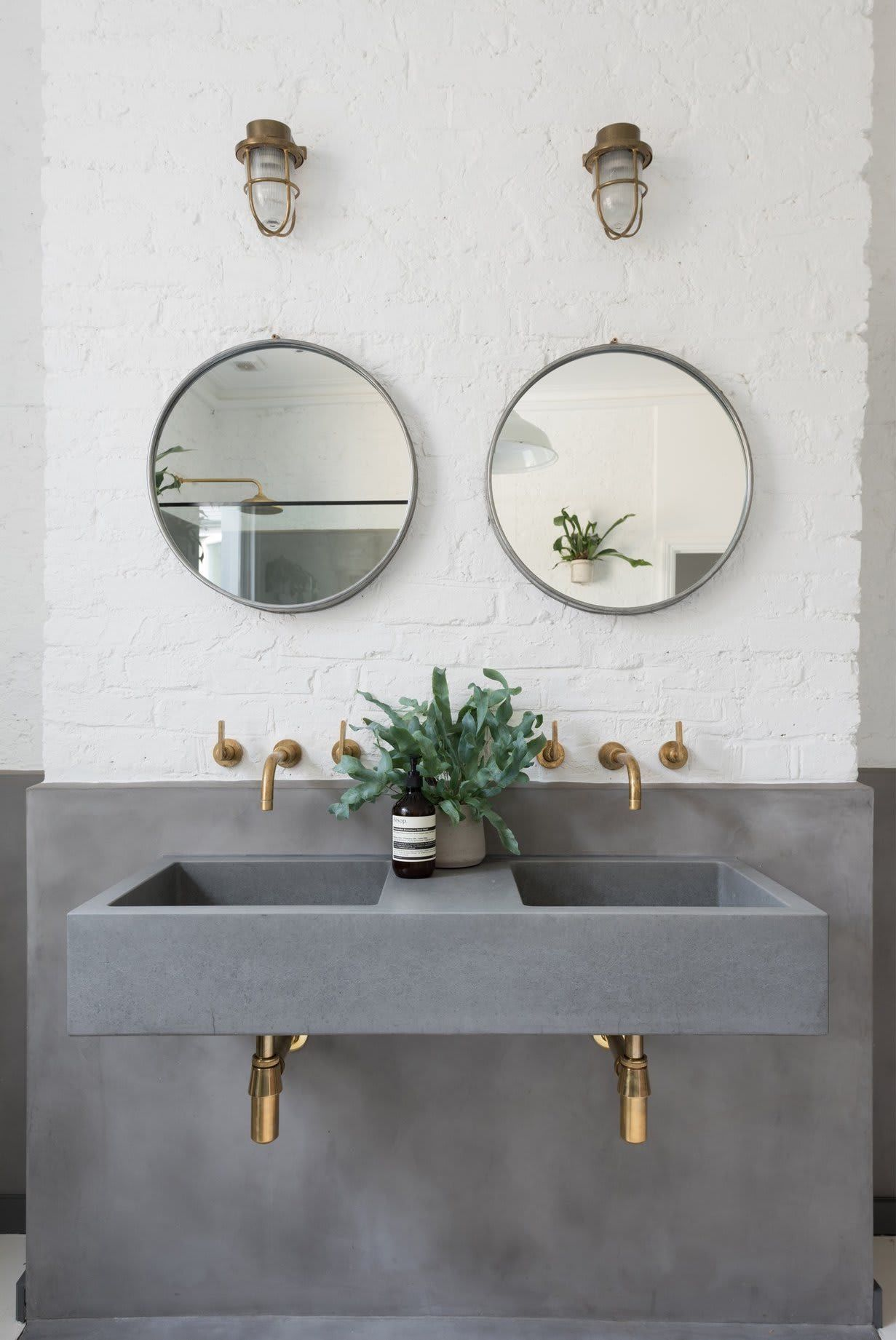 8 Double Sink Vanity Ideas That Ll Inspire You To Upgrade Your Bathroom Top Bathroom Design Concrete Bathroom Master Bathroom Design [ 1841 x 1231 Pixel ]