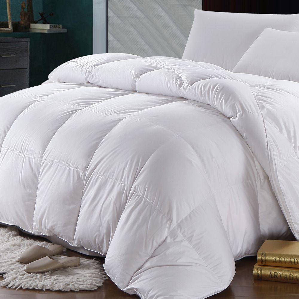 500 Thread Count White Duck Down Comforter Extra Warm Winter
