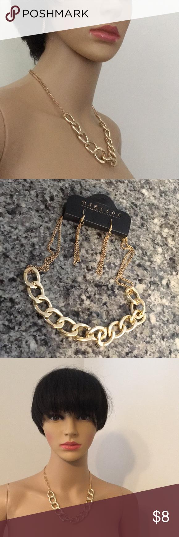 Necklace set link metal pendant chain boutique chains and pendants