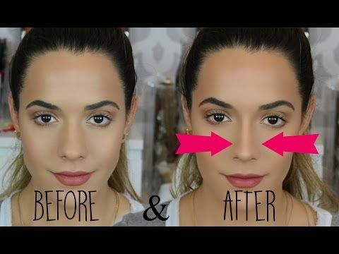 how to make your nose thinner without makeup