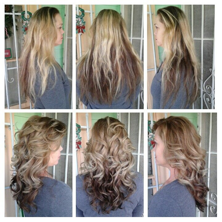 Complete Color Change Two Tones Of Blonde Balayage
