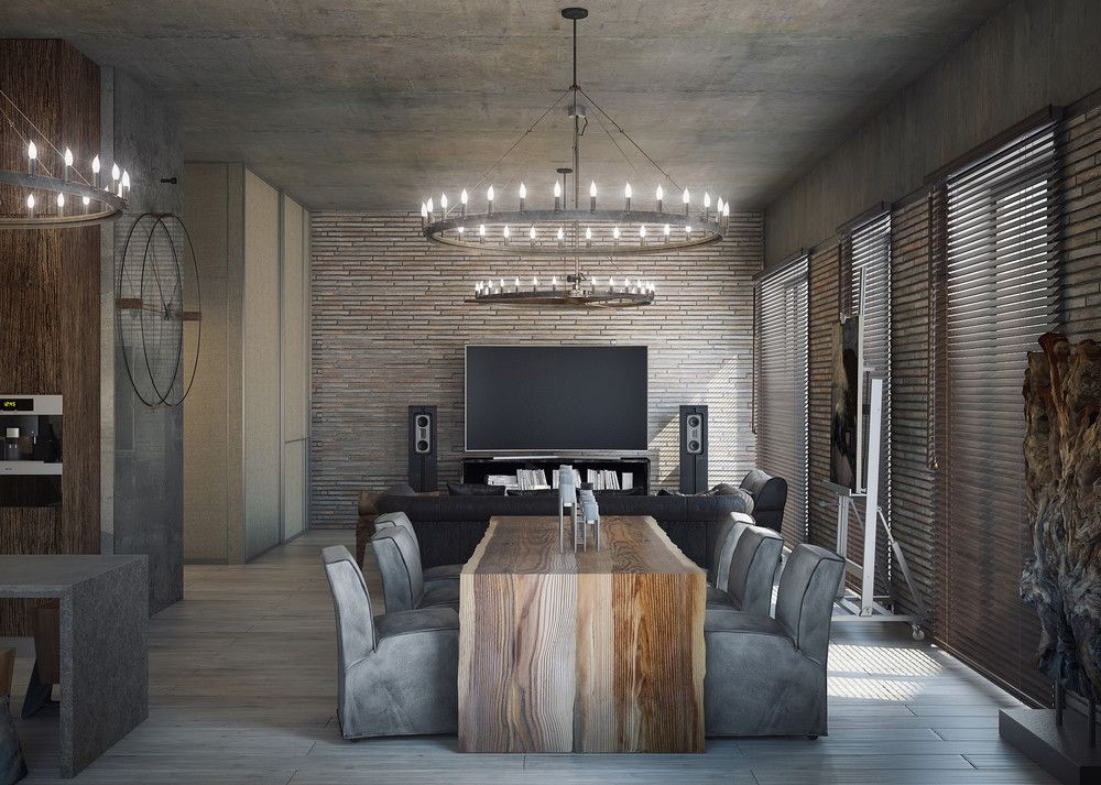 3 Concrete Lofts With Wide Open Floor Plans | furniture | Pinterest ...