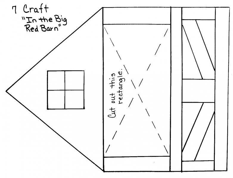 Big Red Barn Template From Down On The Farm Program Of TRC