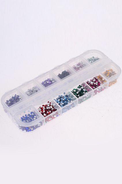 3000 Mixed Colours Nail Art Gems #Romwe
