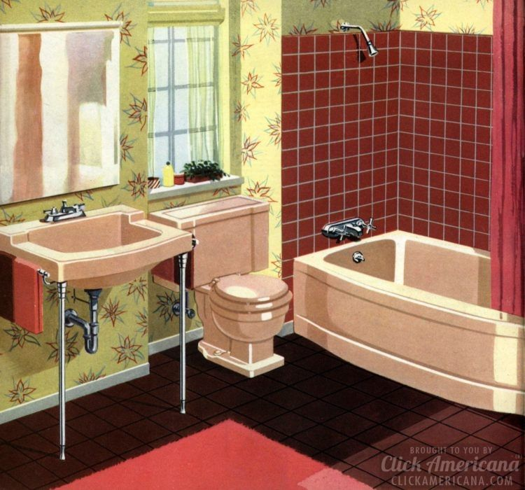 For A 50s Bathroom Remodel Glamorize With Modern Pastel Colors