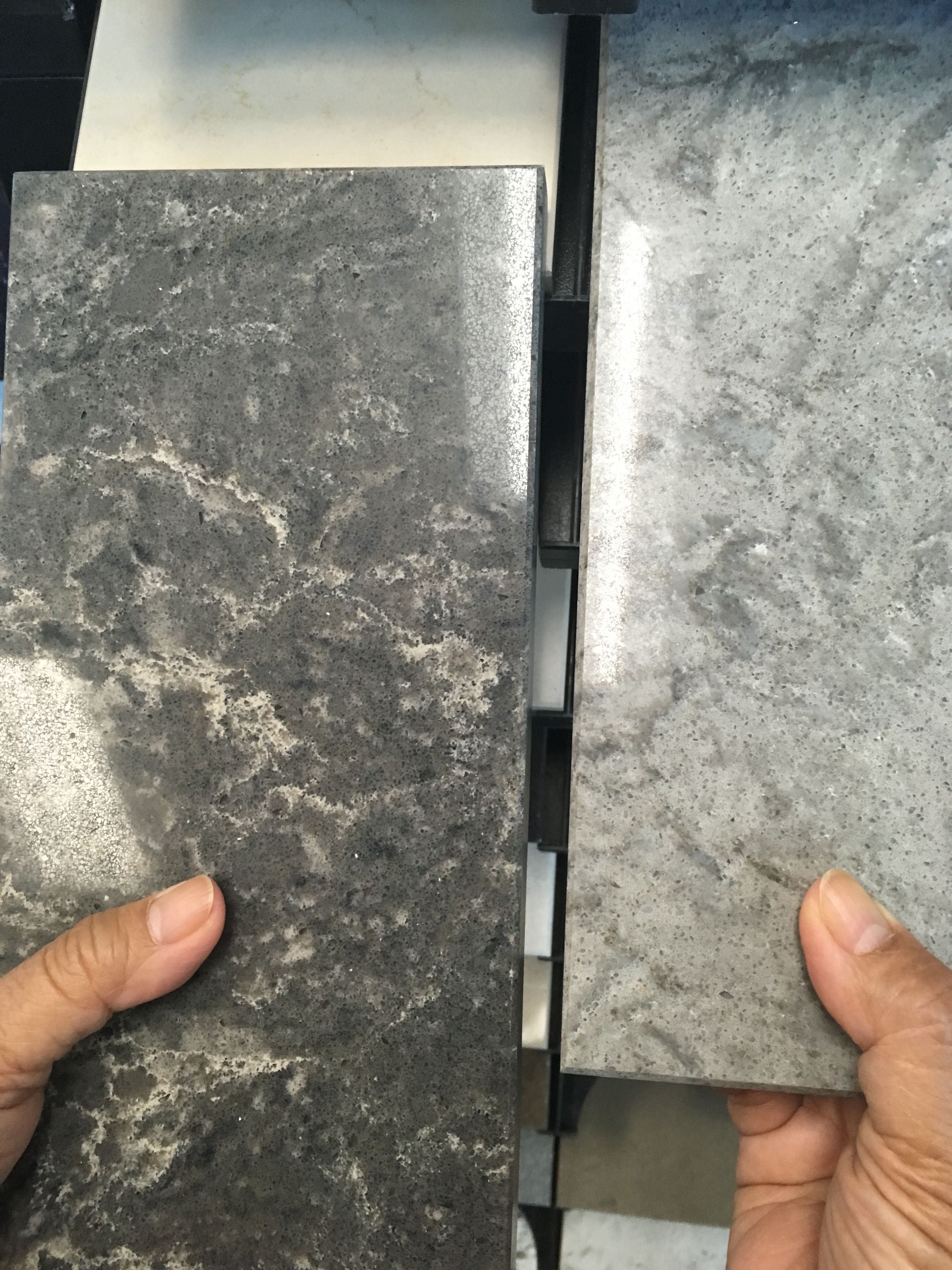 Best Caesarstone Coastal Grey And Turbine Grey Caesarstone 400 x 300