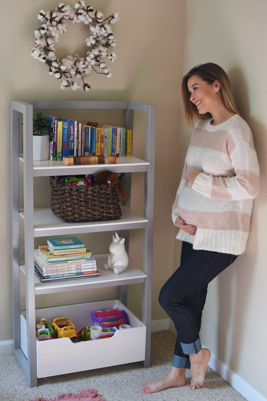 Baby Girls Name Reveal And Nursery Book Shelf Styling With Deltachildren