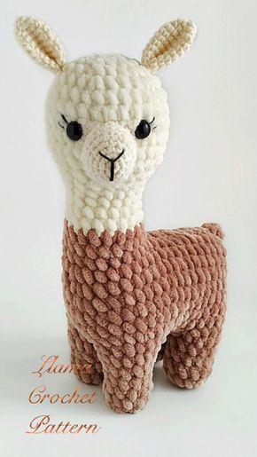 Plush LLama crochet pattern amigurumi