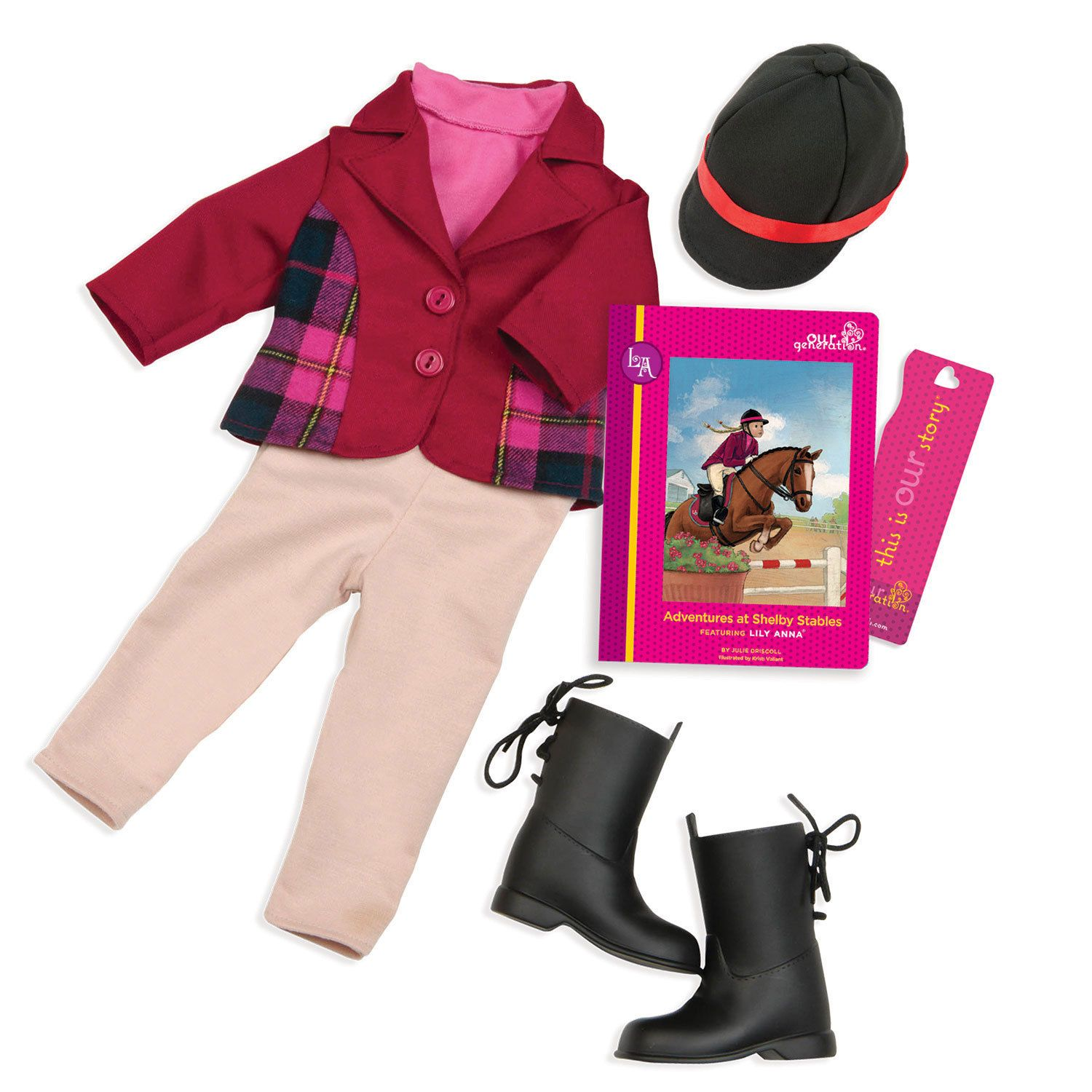 Our Generation Lily Anna - Read & Play Set. We are saddling our own horses and blazing our own trails.