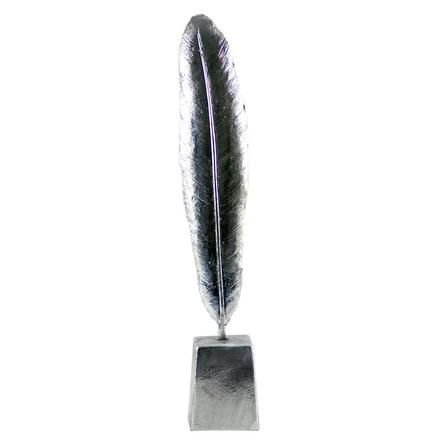 Chateau Collection Silver Feather On A Stand Dunelm Feather Silver Decor
