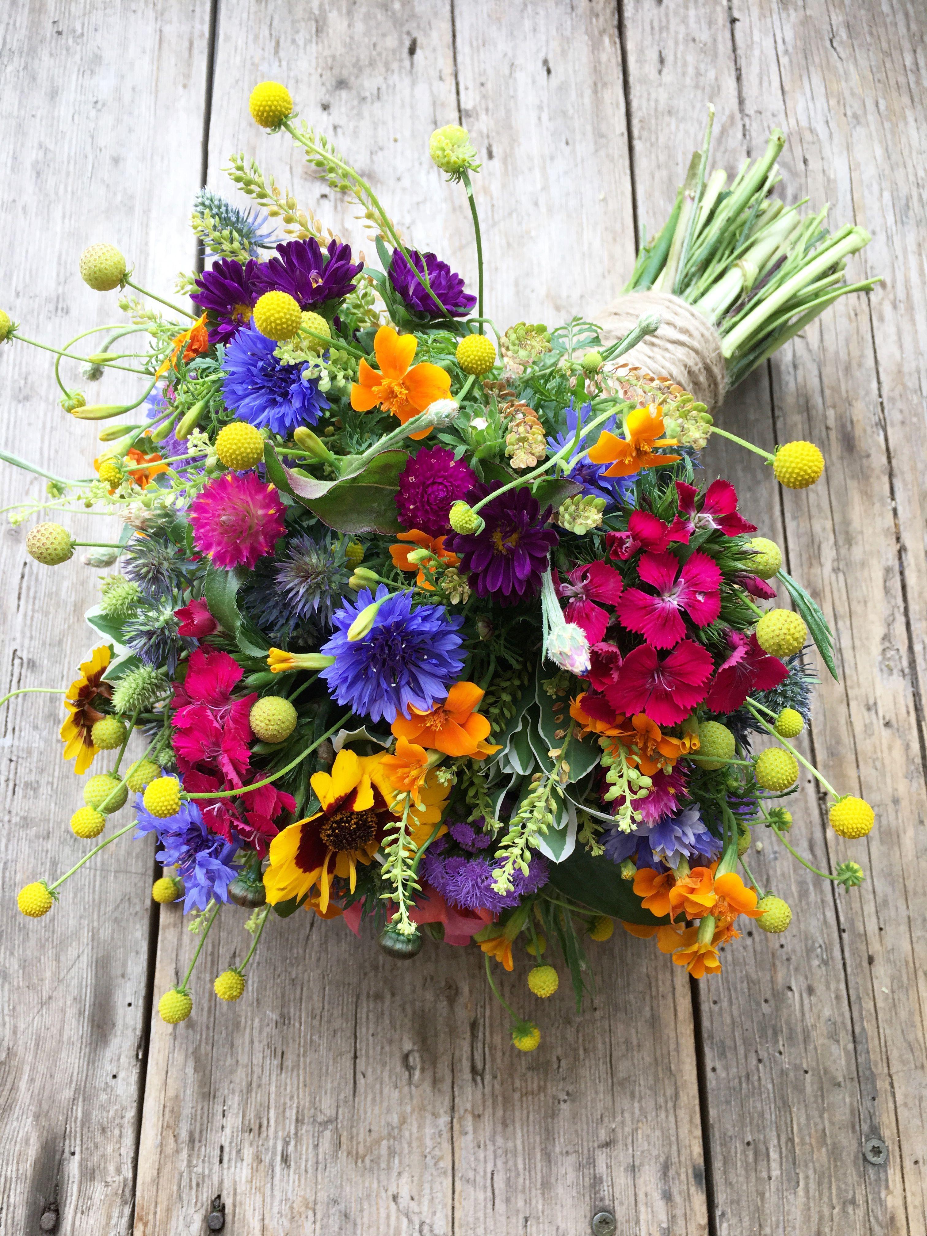 Brautstrau Sommer bunt Hochzeit Blumen colourful