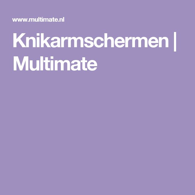 Knikarmschermen | Multimate