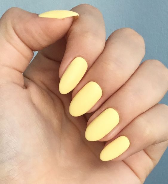 The Best Summer Nail Colours In 2020 Solid Color Nails Yellow Nails Summer Nails Colors