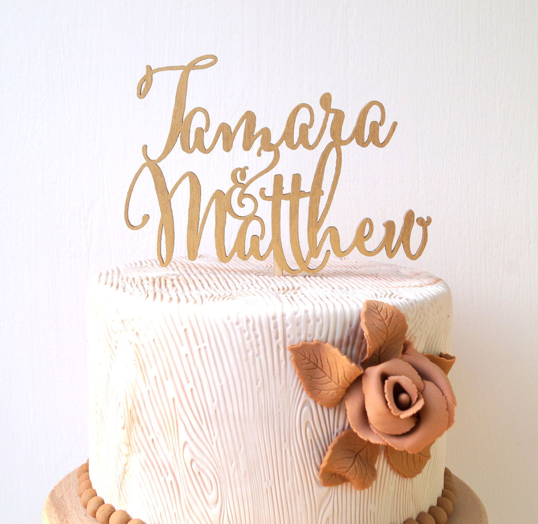 Personalized wedding cake topper custom cake topper rustic wedding