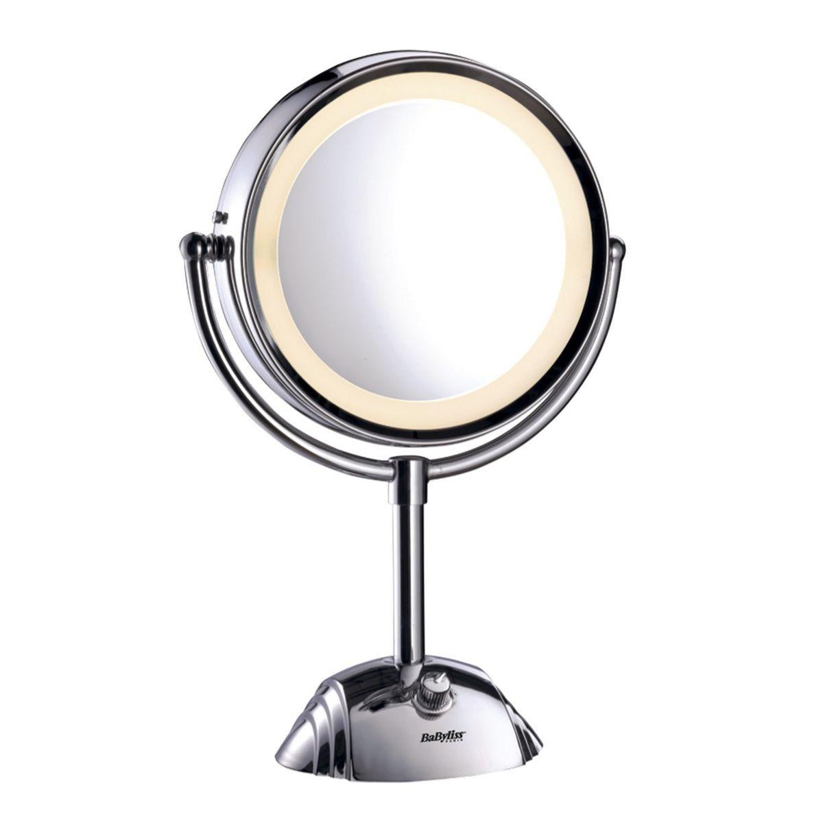 miroir sur pied lumineux 2 faces 8438e