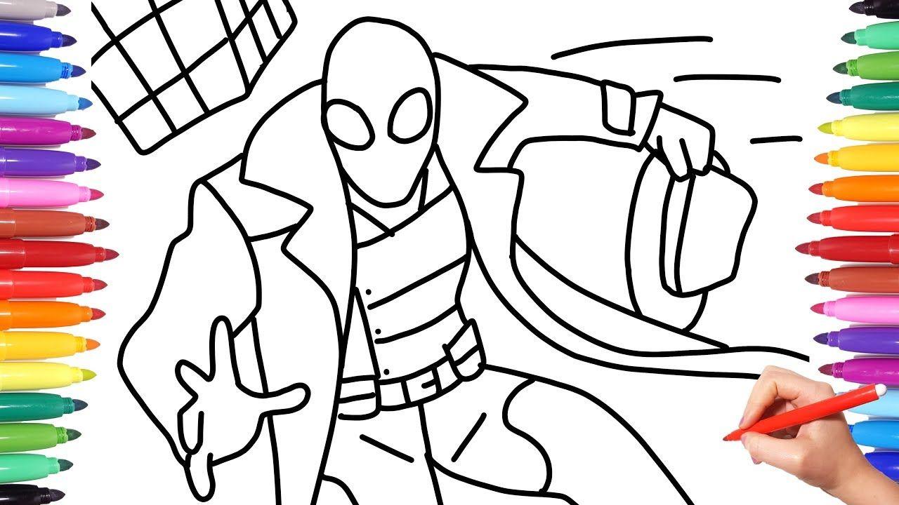 Best Picture Spider Man Noir Coloring Spiderman Coloring Coloring Pages Spiderman Drawing