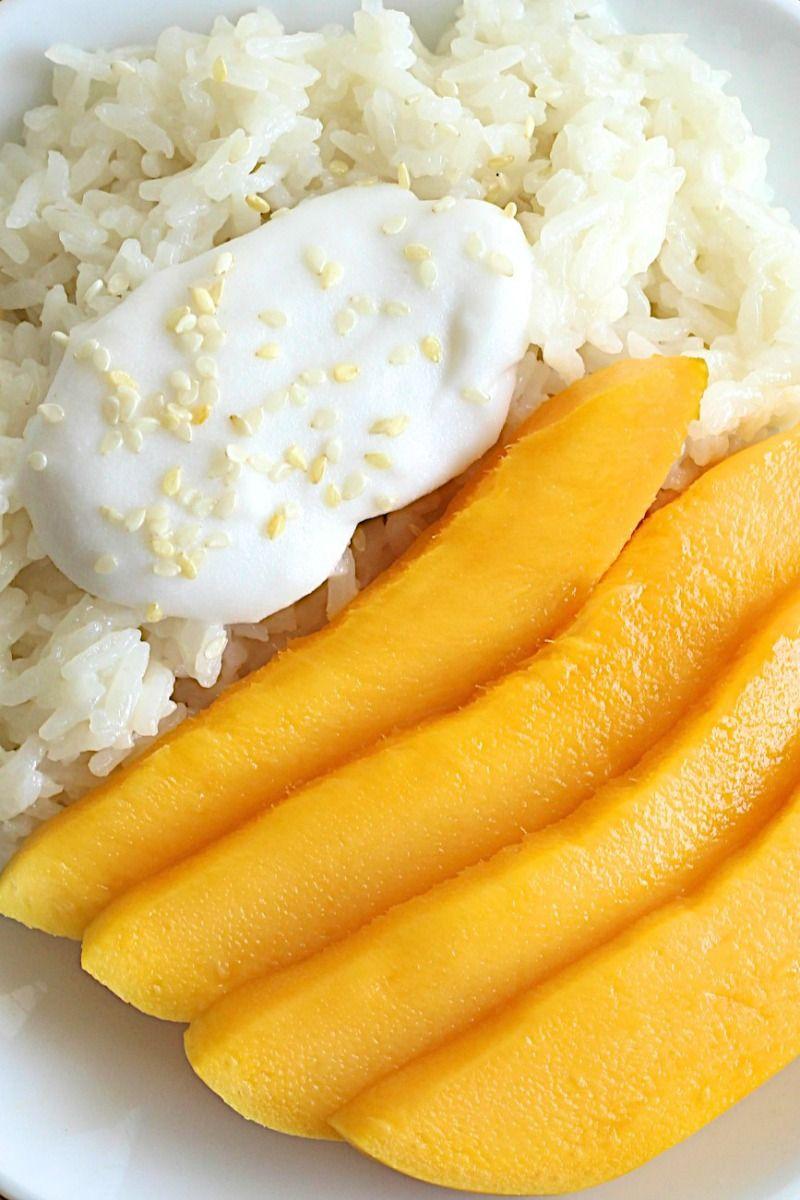 Mango Sticky Rice - a traditional Thai dessert of sticky ...