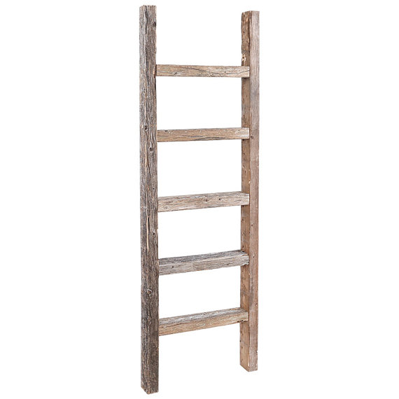 Decorative Ladder Reclaimed Old Wooden Ladder 4 Foot Rustic Barn Wood Old Wooden Ladders Ladder Decor Barn Wood