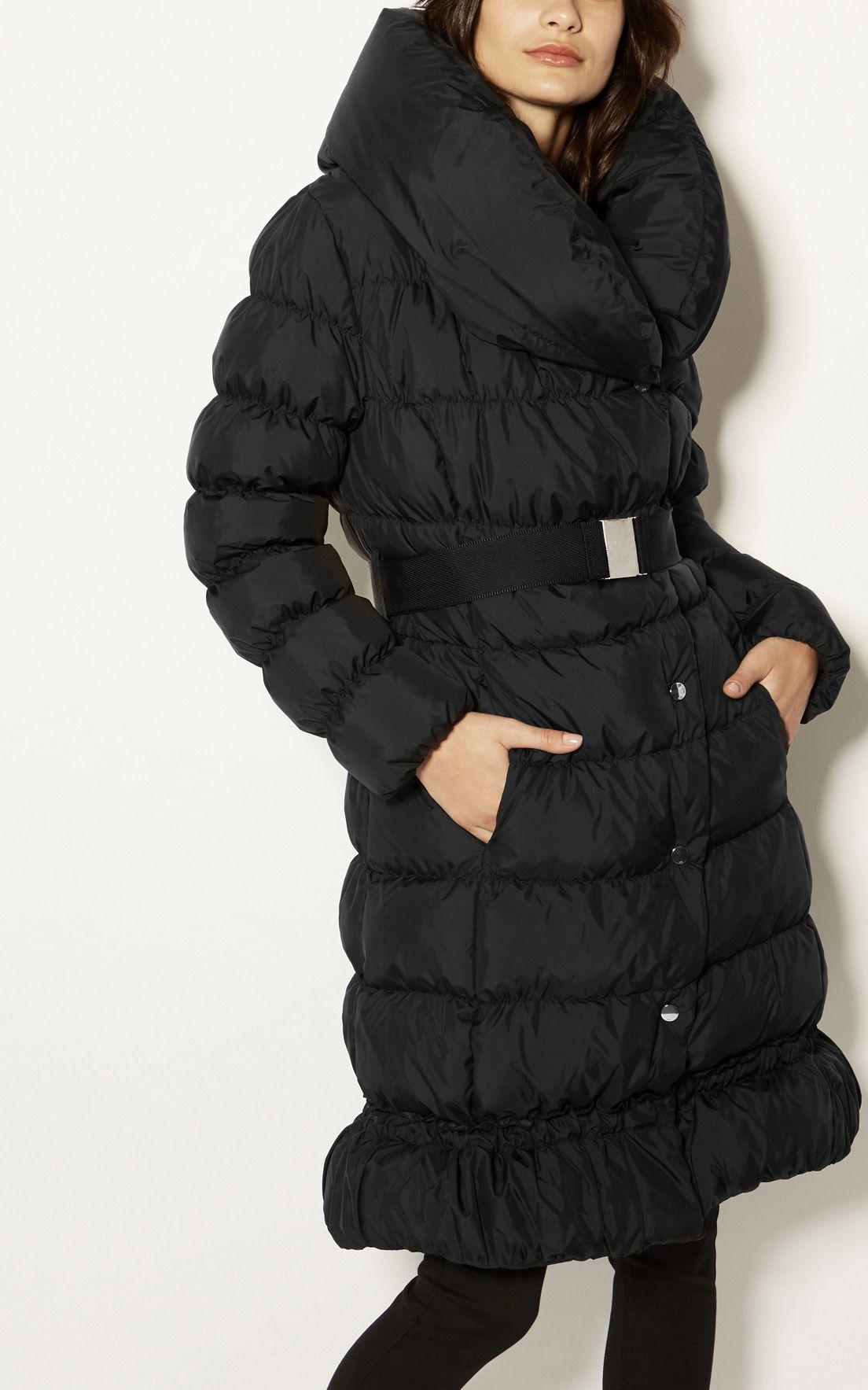 c9972bc5849 Karen Millen, Feather Filled Puffer Coat Black   Coats   Women's ...
