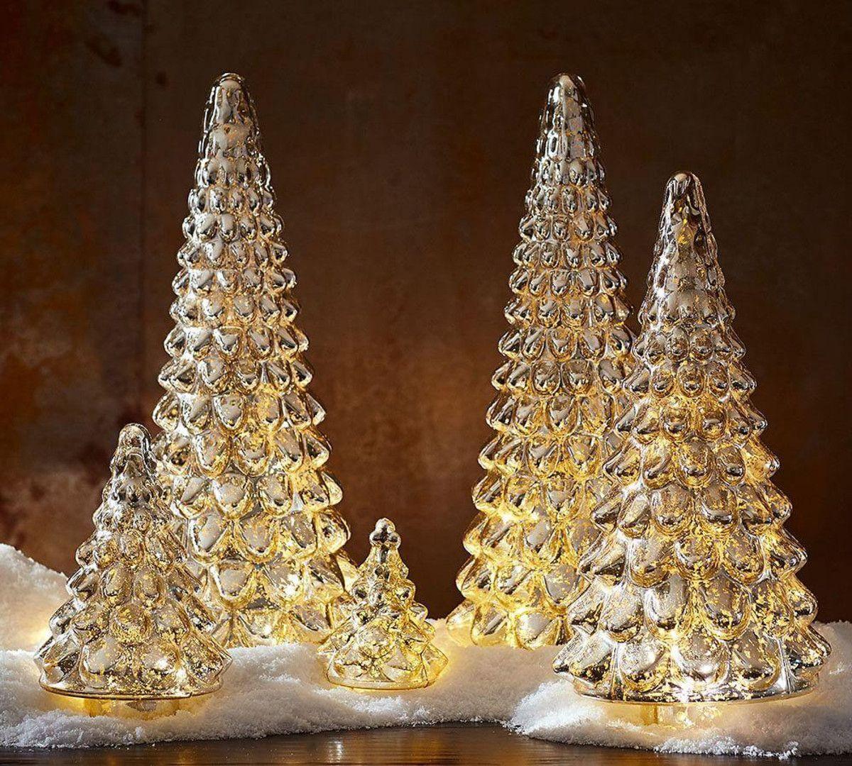 Silver Mercury Glass Trees Pottery Barn Au Pottery