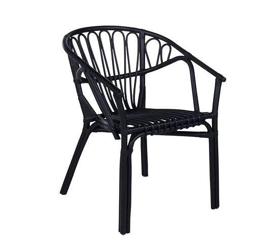 chaises fauteuil goa rotin noir 60 - Chaise Rotin Noir
