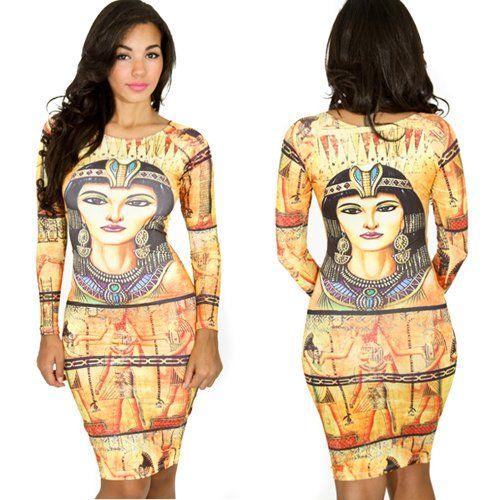c771c15a36e Bestchoice2go(TM) Women s The Ancient Egyptian Pharaoh General Printing New  Dress (Medium