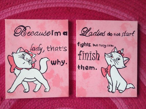Two Disney The Aristocats Marie Quote By EverythingFangirl On Etsy