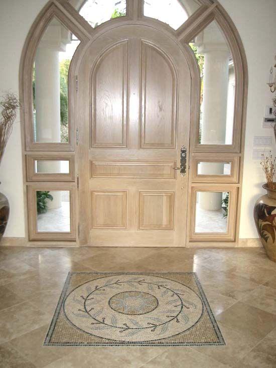 elegant entryway featuring authentic durango stone travertine tile wwwdurangostonecom