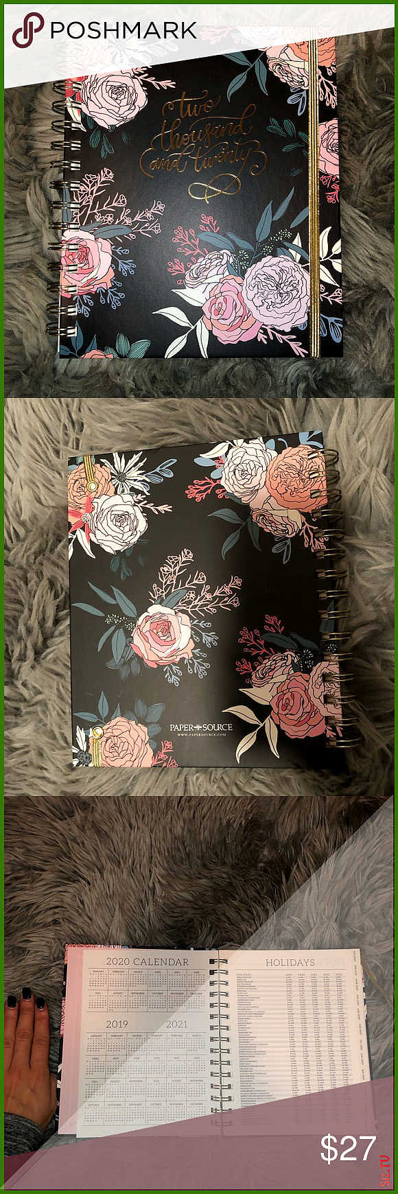 Floral 2020 Planner by PaperSource BRAND NEW NEVER USED  GOT IN A FAB FIT BOX AND ALREADY HAVE A 202...