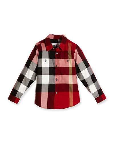 04c4e24a66b K0K4L Burberry Camber Poplin Check Shirt