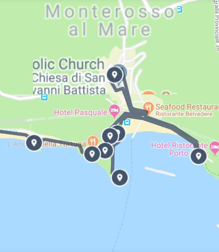 Exploring Monterosso Italy Sightseeing Map And Guide Sightseeing