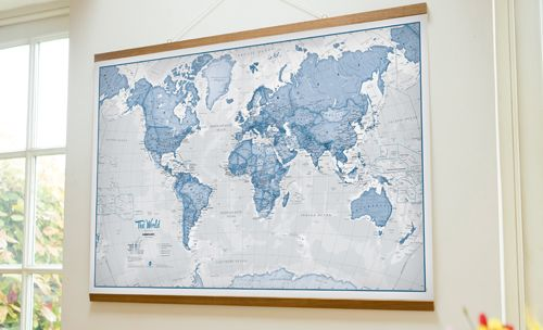 Image Result For Images Of Framed Maps For Childrens Room - Wall map children's room