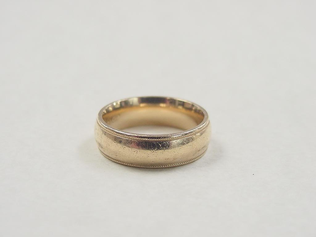 Vintage 14k Gold Milgrain Comfort Fit Wedding Band Ring Wedding Ring Bands Comfort Fit Wedding Band Rings